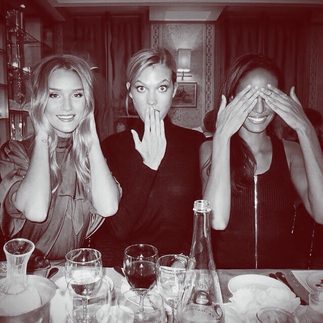 16. It may be a shock to see wine on the table, but she's only human, and clearly enjoys a tipple with the girls.