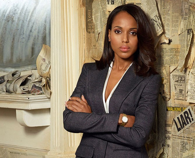 **Olivia Pope,* Scandal*:** Wait a minute, did Olivia Pope just say something super inspiring while wearing a knockout pantsuit? Yep, that's our girl!