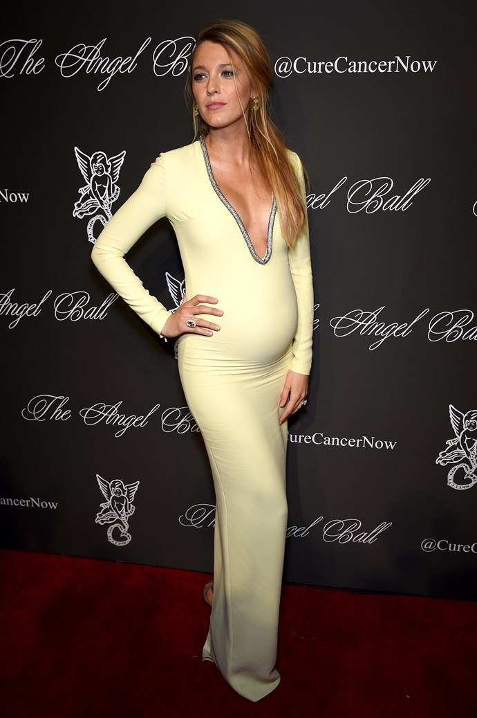 Blake Lively continues to be the most stylish pregnant lady in the history of pregnant ladies with her latest public appearance, this time at the 2014 Angel Ball.