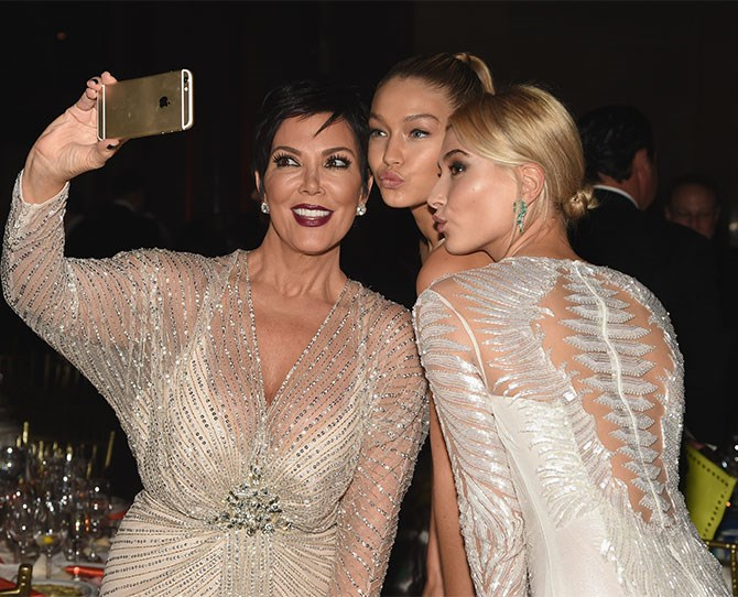 And Kris Jenner, who was selfie-ing up a storm.