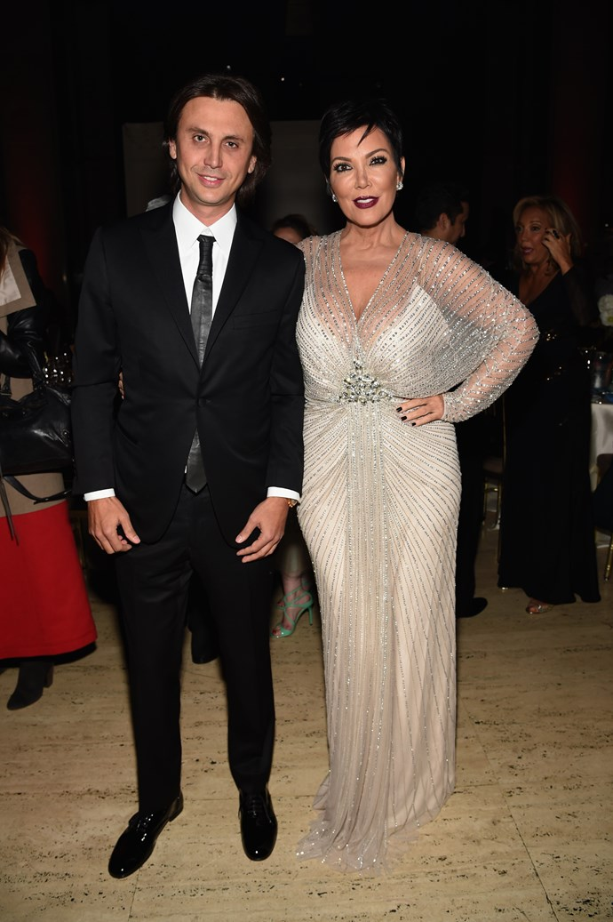 Kimmy K's BFF Jonathan Cheban also made the effort.