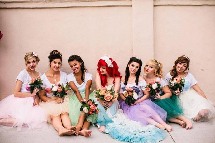 Mermaids don't wear shoes. Duh.