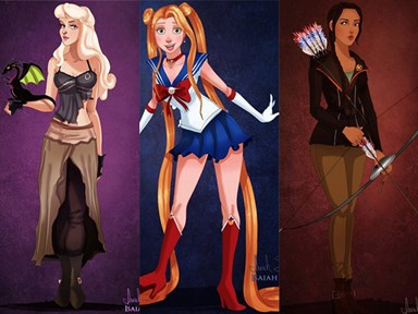 If Disney princesses dressed up for Halloween
