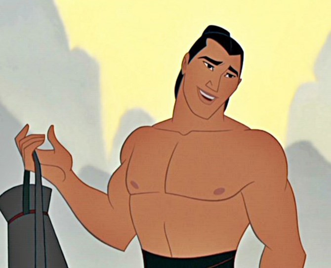 9. Li Shang – *Mulan* Mysterious as the dark side of the moon AND an incredible warrior.