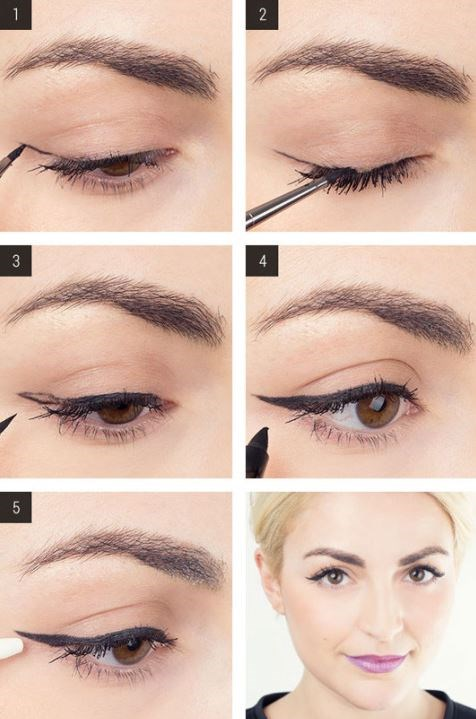 3. Draw your cat-eye first, and then fill in the open space for a perfect winged liner application every single time. It's much easier this way. Use [this tutorial](http://www.cosmopolitan.com/hairstyles-beauty/beauty-blog/cat-eye-liner-makeup-tutorial) as your guide.** **