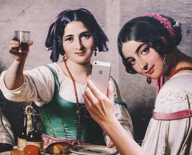 "There's a new selfie obsession taking over the interwebs, and for once, it doesn't involve celebrities flexing their duck faces. This Tumblr, [Museum of Selfies](http://museumofselfies.tumblr.com/|target=""_blank""), is a more cultural take on the social phenom, inspired by a trip to the National Gallery in Denmark...   Cheers to that!"