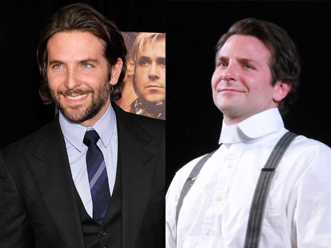 Bradley Cooper has shaved off his facial fuzz for his Broadway role in *Elephant Man*, and we're in mourning. (Don't get us wrong, we still would though.)