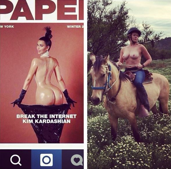 """First there were the celeb critics... Like Chelsea Handler, who posted this image to her Instagram account with the caption: """"Just so I'm clear, Instagram... it's ok to use nudity to sexualize yourself on your site, but not to make a joke? I'm just so confused."""""""