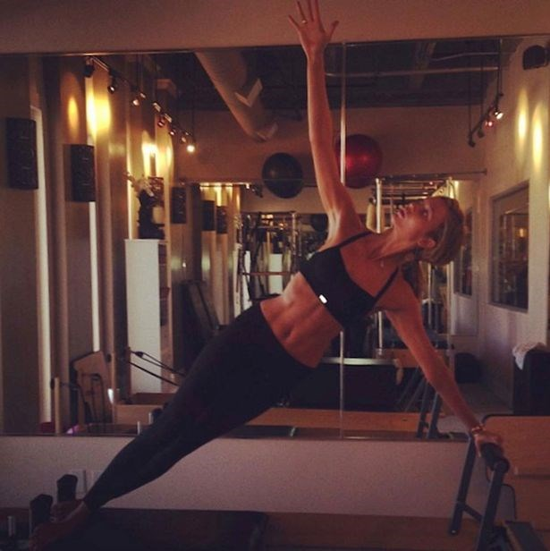 22-year-old Karlie Kloss is a big fan of Pilates-style strength training which works individual muscle groups. As well as burning more calories than yoga, it's known for improving general strength and postural awareness.