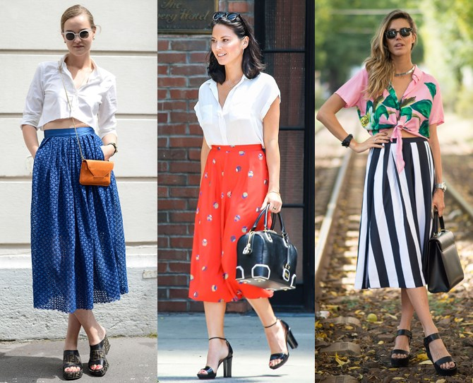 **Midi skirts are your work-wear saviour **It's hard to do corporate dressing when it's roasting hot outside. Suddenly your fitted pencil skirts and dresses seem like sartorial saunas. Enter the midi skirt – it's smart enough for work, long enough to go tights-free and breezy enough to avoid embarrassing bum sweat. (Come on, we've all been there.)