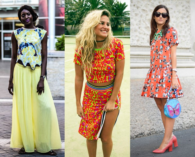 **Wear more colour **Neons! Clashing! Prints! Take the sunnier months as an opportunity to wear crazier colours than you ever have before. Outfits that might attract dodgy looks in winter are suddenly the norm – so push the boundaries and have fun with it.