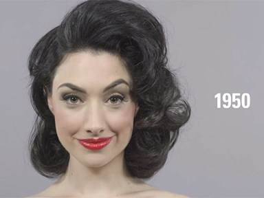See 100 years of beauty trends in just one minute