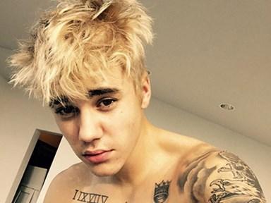 Justin Bieber has platinum blonde hair
