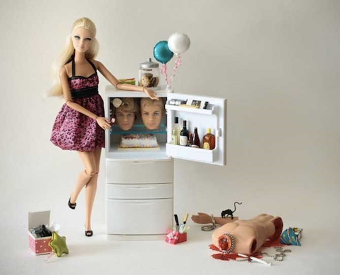 When Barbie hosts one too many kids' parties...