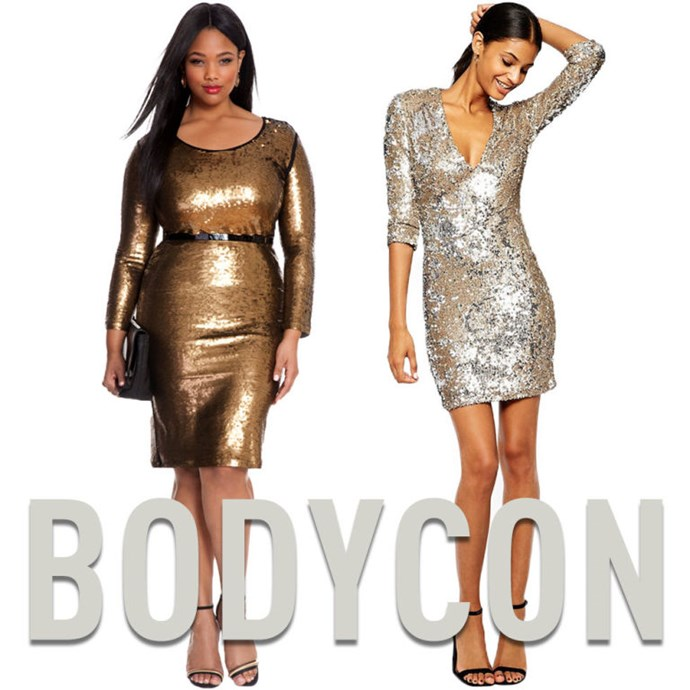 """**1. Bodycon Dresses** Even if you don't like the idea of wearing something body con,that doesn't mean it won't look good on you. The trickissticking to thickerfabrics that helpshape your body, instead of just clinging to it. [Gold Dress](http://rstyle.me/n/vw2hhvs36
