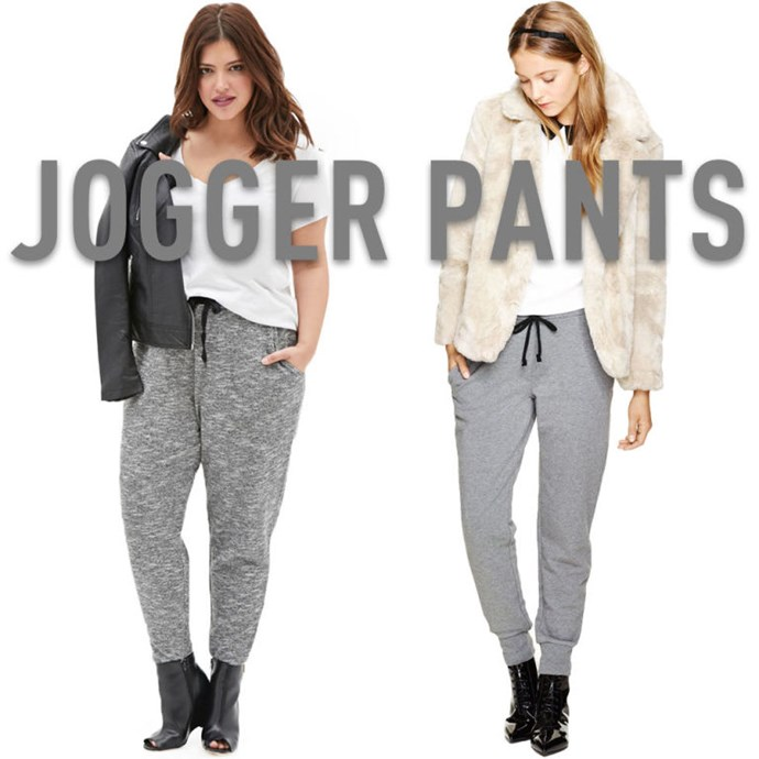 """**8. Jogger Pants** The way they skim over the body and taper at the ankles makes joggers super flattering no matter what size you are. Wear them a littlelow on your hips and pair them with something loose and easy on top to help balance out the general looseness of the pants themselves. It's acasual look, to be sure, but it'snot sloppy, like a pair of traditional straight-leg sweats so often are. Add a heel for a little extra height if you want, but it's not a must. As long as the pants are tapered nicely and end at or just above your ankles, your legs will look long in or out of heels. *[Marled Grey Knit Joggers](http://rstyle.me/n/vw2mvvs36