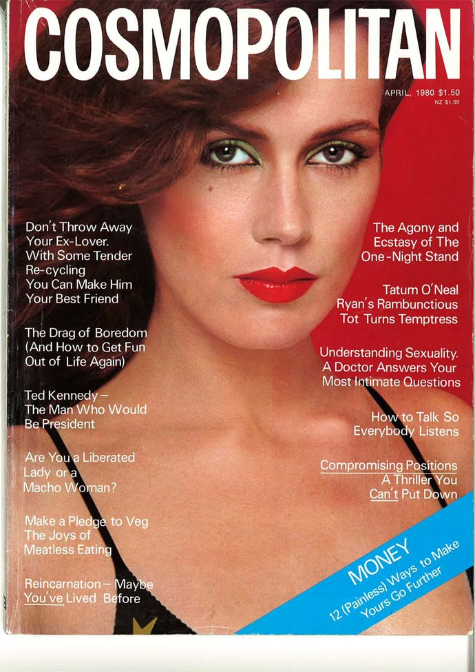 "**April 1980:** From a time where green eye-liner and red lippy could be worn together *without* people immediately thinking ""CHRISTMAS""."