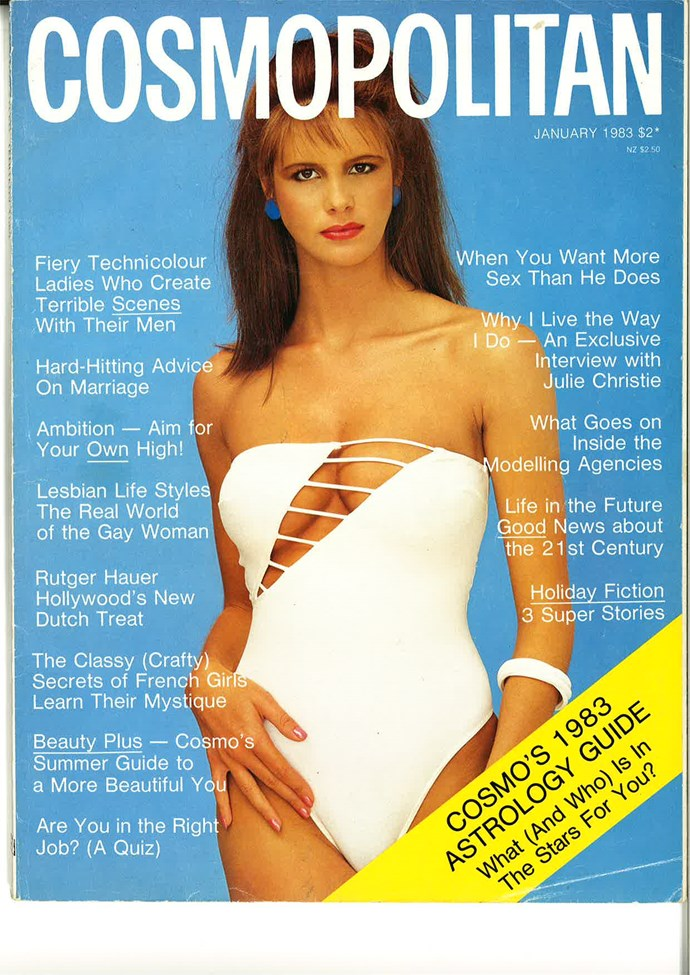 **January 1983:** Oh hay, Elle McPherson. Please, give us more deets on the good news about the 21st Century.