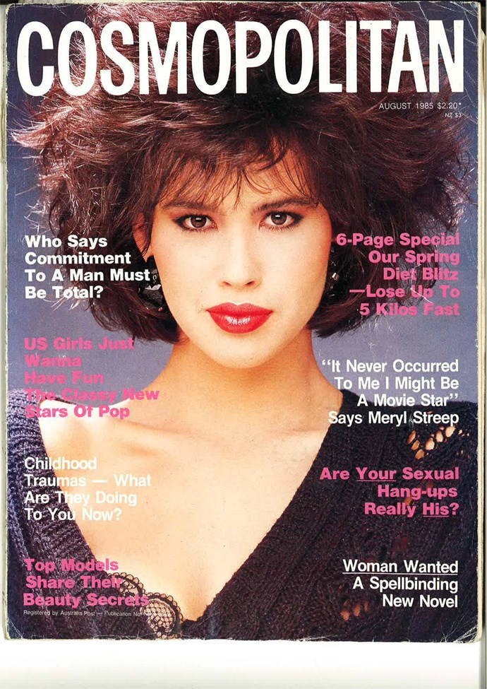 **August 1985:** Hands up if you're hoping this hair 'do comes back in fashion? Oh, everyone with frizzy hair? Okay.