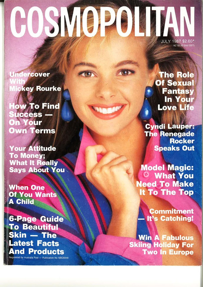 **July 1987:** Perennial '80s cover model and Cameron Daddo's wife, Alison Brahe, was our pick for this cover.