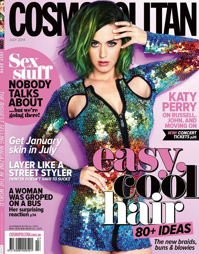 **July 2014:** Cosmo goes global! And puts Katy Perry on every single Cosmo cover WORLDWIDE. Because we're innovative and shiz.