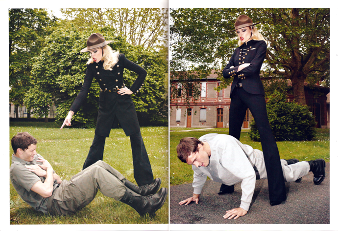 Dornan [in*Vogue Paris*](http://www.vogue.fr/), 2010; photographs by Terry Richardson. This is *literally* Christian Grey being Mrs. Robinson's submissive.