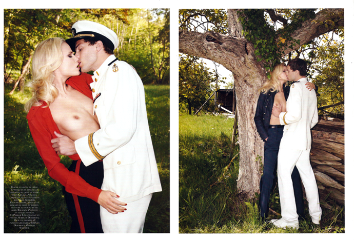 Oh, and this is their sexy time; naval officer's apparel is optional, but then role-play can be all sorts of kinky fun?