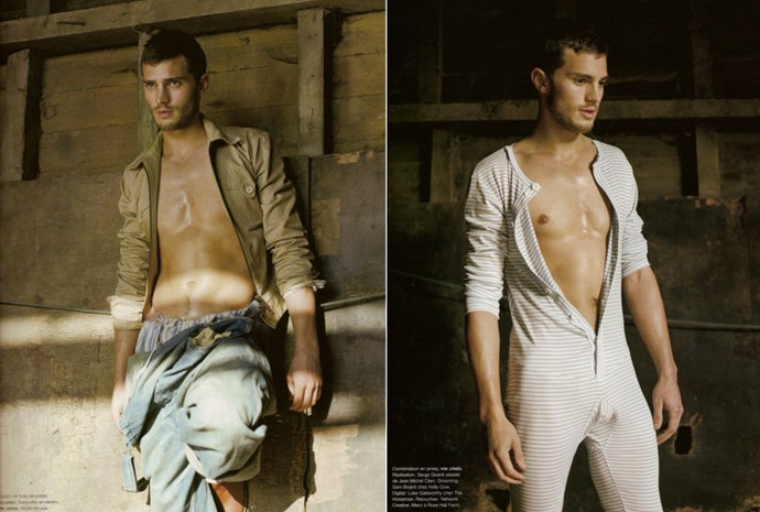 A rather sweaty Jamie in his long Johns in a barn somewhere [for *Num*é*ro Homme* magazine](http://www.numero-magazine.com/fr_FR), 2006.