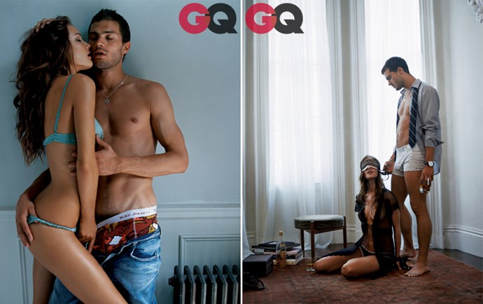 Jamie posing with Rosie Huntington-Whiteley[for a sexy, sexy editorial in*GQ*](http://www.gq.com/entertainment/celebrities/201310/jamie-dornan-fifty-shades-of-grey-gq-photos#slide=1), 2006. Seriously, click through [all the photos](http://www.gq.com/entertainment/celebrities/201310/jamie-dornan-fifty-shades-of-grey-gq-photos#slide=1), it's fifty shades of amazing. (Sorry, but stilltrue.)