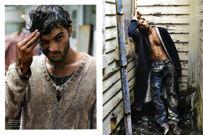 Wet Jamie for *Vogue Hommes International.*