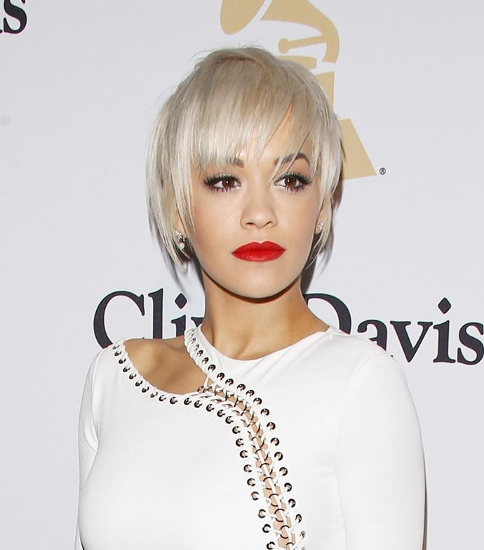 That's right - she has cut it all off into a messy pixie crop. We're feeling it.