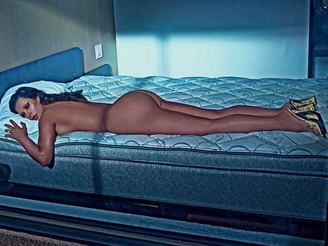 Kim Kardashian full frontal for LOVE magazine (UNCENSORED)