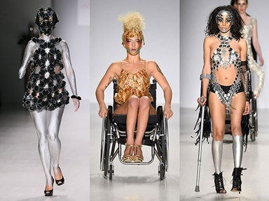 9 inspiring photos of models with disabilities working the runway at NYFW