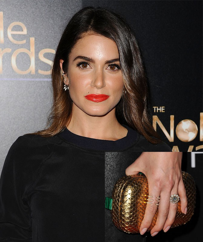 Ian Somerhalder has *incredible* taste, choosing this vintage style ring with diamonds set around each other to create a floral effect, for his love Nikki Reed. Swoon!