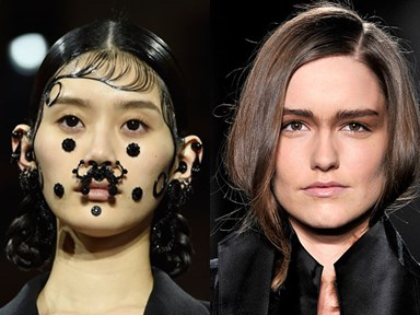 The weirdest face trends from Fashion Week