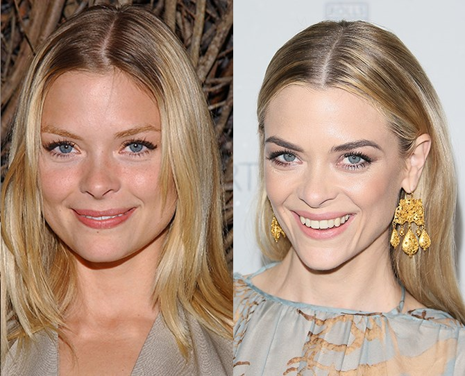 *Hart of Dixie* star Jaime King shows that dark brows with a blonde 'do really WORK. While her old strawberry blonde brows were unique, we always knew she had better things in store.