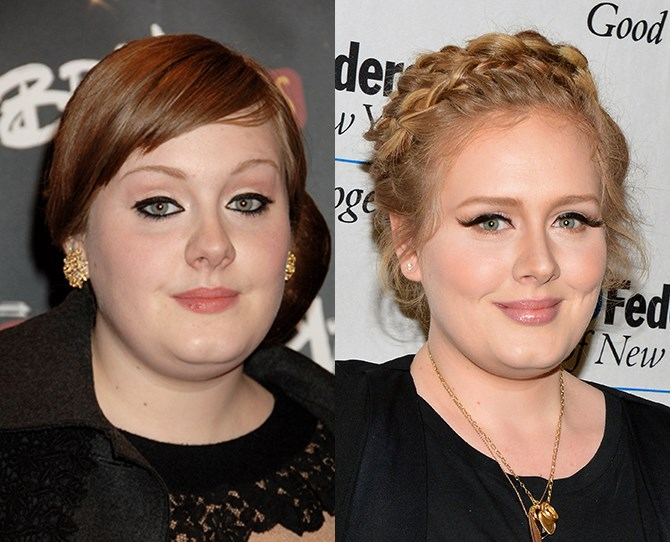 At long last Adele's brow game meets her Grammy award winning game. All it took was a diligent hiding of the tweezers for 3-6 months and some skilful shading. Go girl.