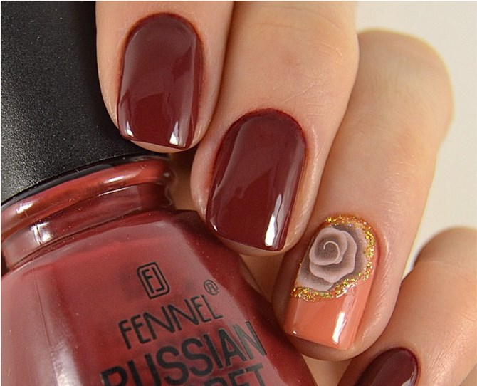 Sex up the luxe of this on-trend colour with your glossiest top coat.