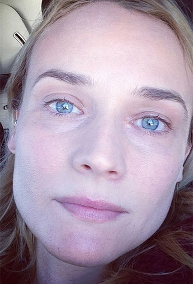 "We think Diane Kruger is an ageless beauty... and even she has something to say about it! She captioned the selfie: ""I don't know why I still look like a teenager sometimes... #Sky #nomakeup #thegoodolddays."""