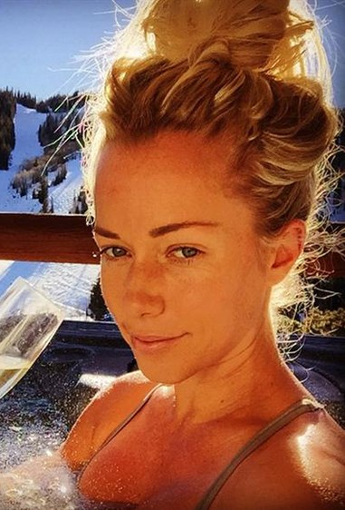 Reality TV star Kendra Wilkinson might be using a toasty filter, but there's no doubt she's a natural (and freckled) babe.