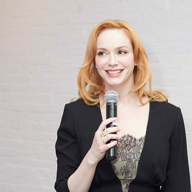 Now that *Mad Men* is O-V-A-H, she's officially strawberry blonde.