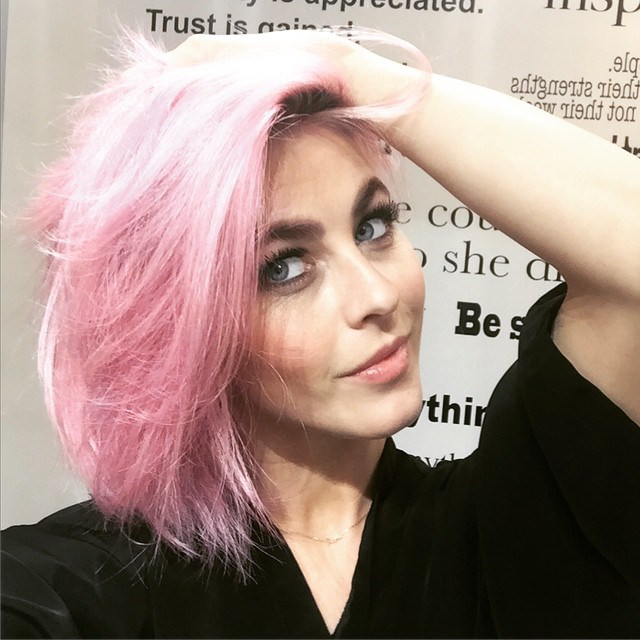 She *just* shared this snap on Instagram of her new marshmallow pink hair. PERFECTION.