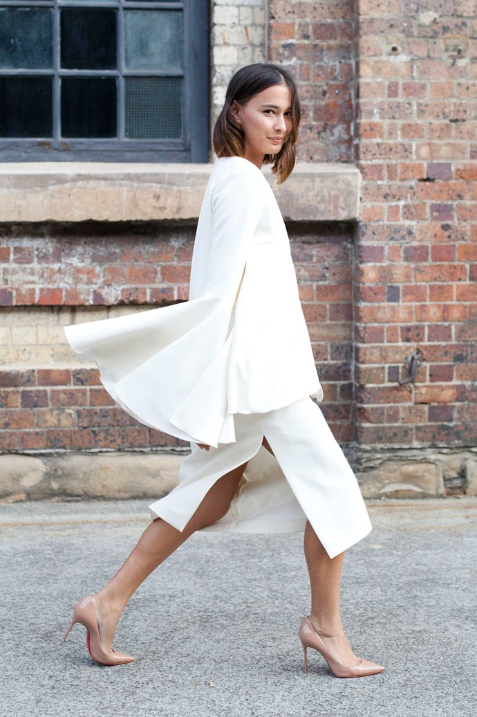 Eleanor Pendleton gets her sleeve on in Ellery.