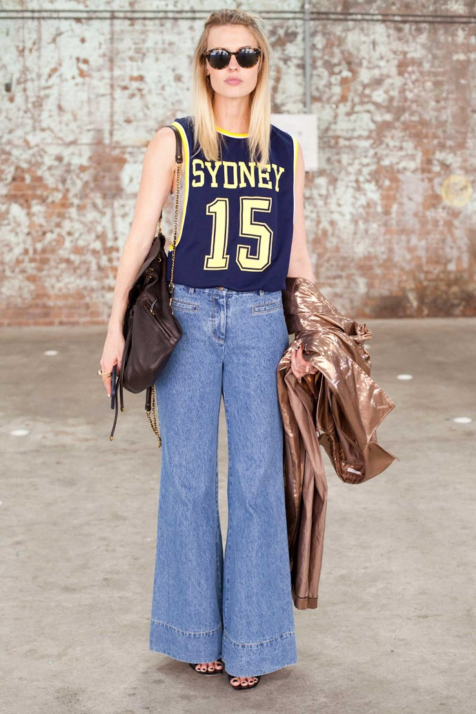 Yay, more flare jeans! For real though, where can we get this pair?
