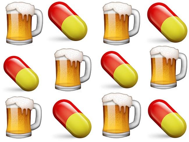 drug and alcohol emoji