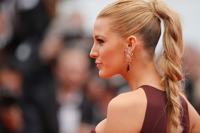 Blake proves that 'business at the front, and party at the back' isn't such a bad phrase. The severity of her sleeked hair with the fullness at the back creates a sexy and effortless look.