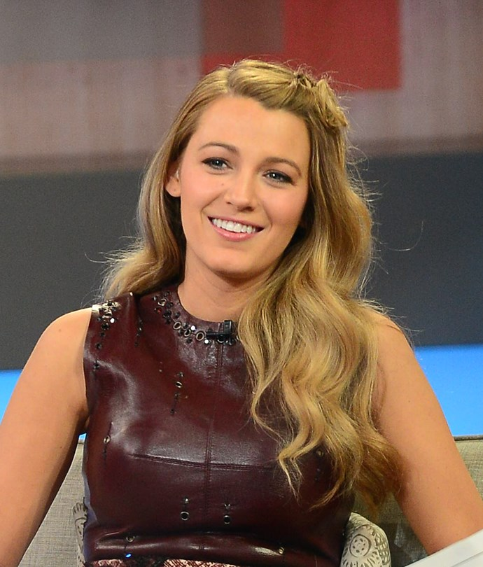 A modern take on her signature look, Blake has maintained her sexy waves, but added a simply yet cute little top twist. Warning: we might be doing this all week.