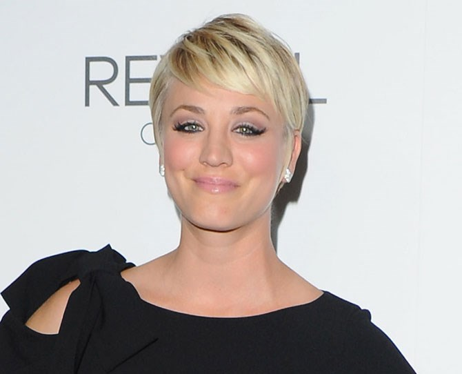 We loved Kaley Cuoco's short, blonde pixie cut.