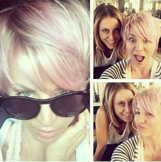 But we're OBSESSED with her new, pink 'do.