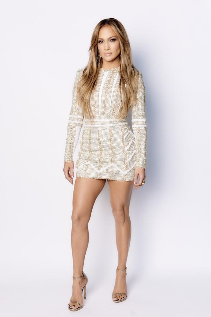 Nobody rocks a sparkly mini dress like JLo. FACT.
